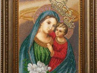 Канва для вишивання бісером на релігійну тематику - Богородиця (яблуневий цвіт)