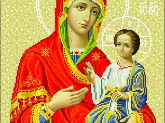 Канва для вишивання бісером на релігійну тематику - Іверська Богородиця