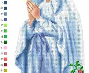 Марія непорочного зачаття 25х47 ТО038