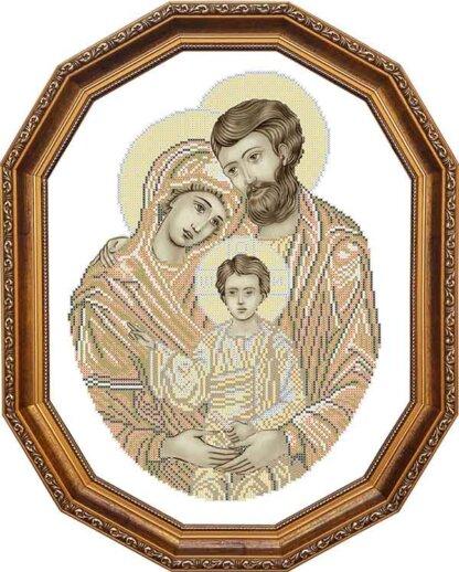 Канва для вишивання бісером на релігійну тематику - Святе сімейство (сепія-2)