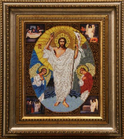 Канва для вишивання бісером на релігійну тематику - Воскресіння Христове