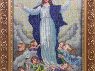 Канва для вишивання бісером на релігійну тематику - Вознесіння Діви Марії