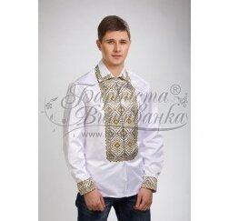 Заготовка чоловічої сорочки – вишиванки для вишивки бісером і нитками Барвиста Вишиванка СЧ001