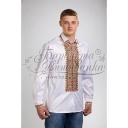 Заготовка чоловічої сорочки – вишиванки для вишивки бісером і нитками Барвиста Вишиванка СЧ011