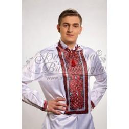 Заготовка чоловічої сорочки – вишиванки для вишивки бісером і нитками Барвиста Вишиванка СЧ012