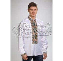 Заготовка чоловічої сорочки – вишиванки для вишивки бісером і нитками Барвиста Вишиванка СЧ