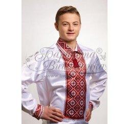 Заготовка чоловічої сорочки – вишиванки для вишивки бісером і нитками Барвиста Вишиванка СЧ008