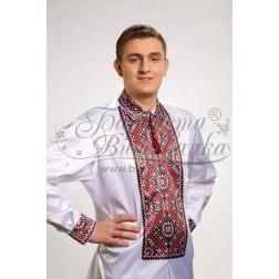 Заготовка чоловічої сорочки – вишиванки для вишивки бісером і нитками Барвиста Вишиванка СЧ010
