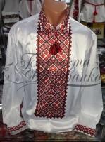 Заготовка чоловічої сорочки – вишиванки для вишивки бісером і нитками Барвиста Вишиванка СЧ014