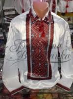 Заготовка чоловічої сорочки – вишиванки для вишивки бісером і нитками Барвиста Вишиванка СЧ015