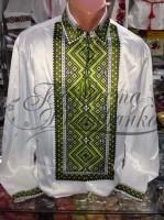 Заготовка чоловічої сорочки – вишиванки для вишивки бісером і нитками Барвиста Вишиванка СЧ016