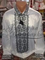 Заготовка чоловічої сорочки – вишиванки для вишивки бісером і нитками Барвиста Вишиванка СЧ017