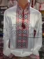 Заготовка чоловічої сорочки – вишиванки для вишивки бісером і нитками Барвиста Вишиванка СЧ018