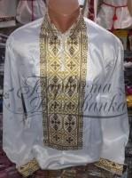 Заготовка чоловічої сорочки – вишиванки для вишивки бісером і нитками Барвиста Вишиванка СЧ019