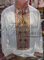 Заготовка чоловічої сорочки – вишиванки для вишивки бісером і нитками Барвиста Вишиванка СЧ020