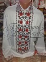 Заготовка чоловічої сорочки – вишиванки для вишивки бісером і нитками Барвиста Вишиванка СЧ021