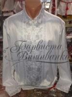 Заготовка чоловічої сорочки – вишиванки для вишивки бісером і нитками Барвиста Вишиванка СЧ022