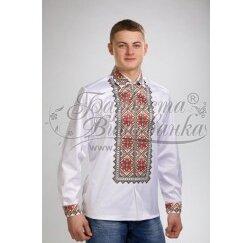 Заготовка чоловічої сорочки – вишиванки для вишивки бісером і нитками Барвиста Вишиванка СЧ025