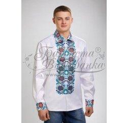 Заготовка чоловічої сорочки – вишиванки для вишивки бісером і нитками Барвиста Вишиванка СЧ030