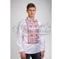 Заготовка чоловічої сорочки – вишиванки для вишивки бісером і нитками Барвиста Вишиванка СЧ026