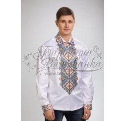 Заготовка чоловічої сорочки – вишиванки для вишивки бісером і нитками Барвиста Вишиванка СЧ029