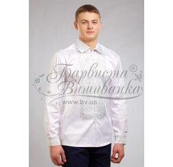 Заготовка чоловічої сорочки – вишиванки для вишивки бісером і нитками Барвиста Вишиванка СЧ031
