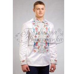Заготовка чоловічої сорочки – вишиванки для вишивки бісером і нитками Барвиста Вишиванка СЧ034