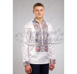 Заготовка чоловічої сорочки – вишиванки для вишивки бісером і нитками Барвиста Вишиванка СЧ035