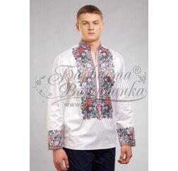 Заготовка чоловічої сорочки – вишиванки для вишивки бісером і нитками Барвиста Вишиванка СЧ036