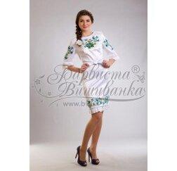 Заготовка для вишивання нитками або бісером жіночого плаття ПЛд-19