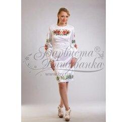 Заготовка для вишивання нитками або бісером жіночого плаття ПЛд-20