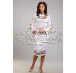 Заготовка для вишивання нитками або бісером жіночого плаття ПЛд-23