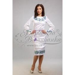 Заготовка для вишивання нитками або бісером жіночого плаття ПЛд-25