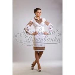 Заготовка для вишивання нитками або бісером жіночого плаття ПЛд-28