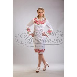 Заготовка для вишивання нитками або бісером жіночого плаття ПЛд-42