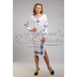 Заготовка для вишивання нитками або бісером жіночого плаття ПЛд-48