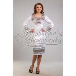 Заготовка для вишивання нитками або бісером жіночого плаття ПЛд-64