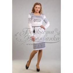 Заготовка для вишивання нитками або бісером жіночого плаття ПЛд-66