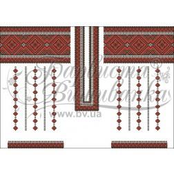 Заготовка для вишивання нитками або бісером жіночого плаття ПЛд-75