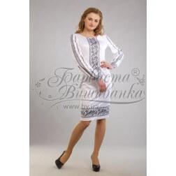 Заготовка для вишивання нитками або бісером жіночого плаття ПЛд-82
