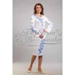 Заготовка для вишивання нитками або бісером жіночого плаття ПЛд-85