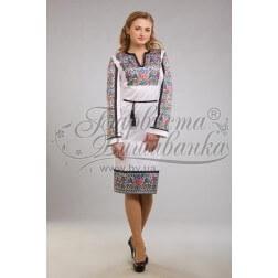 Заготовка для вишивання нитками або бісером жіночого плаття ПЛд-89
