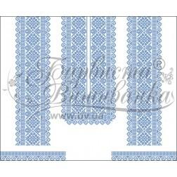 Заготовка для вишивання нитками або бісером жіночого плаття ПЛд-110