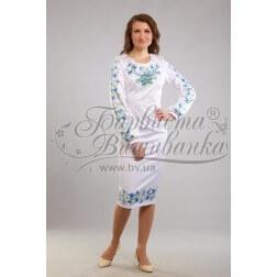 Заготовка для вишивання нитками або бісером жіночого плаття ПЛд-191
