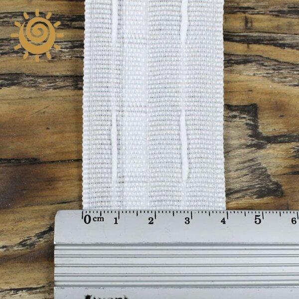 Стрічка шторна 40мм, колір білий 1