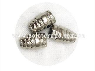 Наконечник пластиковий захистить шнур від деформації, колір срібний
