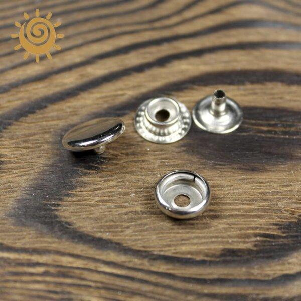 Металеві кнопки заклепки 12 мм, колір нікель 1 knopka 12 1