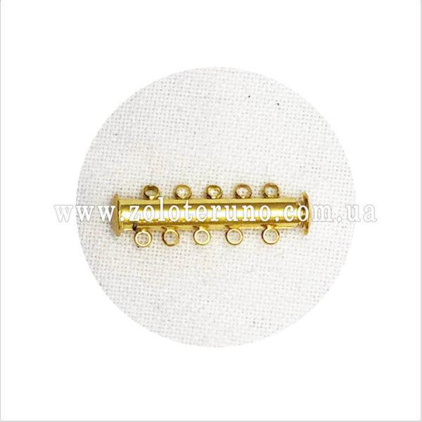 магнитная застежка для браслета, 30х7мм, колір золото