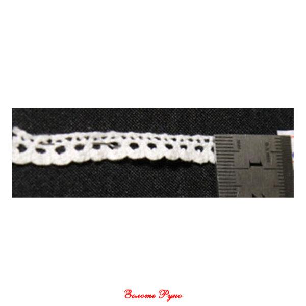 Мереживо бавовняне біле 110, 1 см
