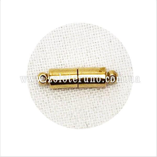Магнитная застежка для броши, 20x5мм, отвір 1.5мм, колір золото